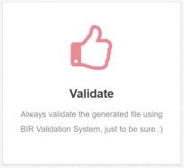 BIR Excel Uploader Validate