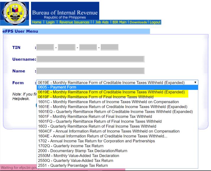 New BIR Form Nos  0619E and 0619F – Facing PH Taxes