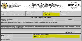 How to file 1601EQ through eFPS? – Facing PH Taxes